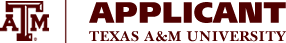 Applicant Information System - Texas A&M University
